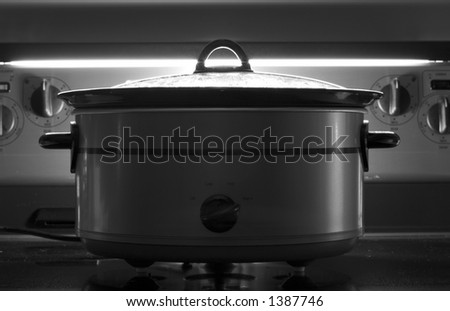 Let it cook all night - stock photo