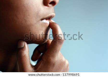 Let me think first - stock photo