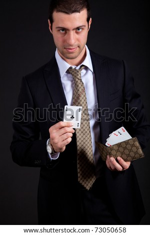 Let's deal - stock photo