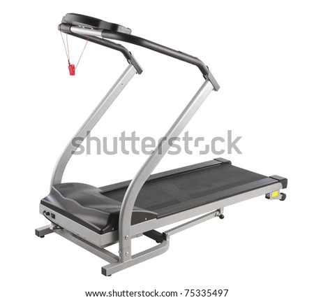 Let's exercise at home by the treadmill machine