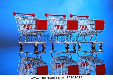 Let's go shopping carts. - stock photo