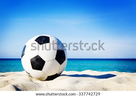 Let's Have Fun Beach Nature Relaxation Concept - stock photo