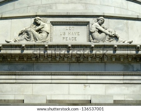 let us have peace - stock photo