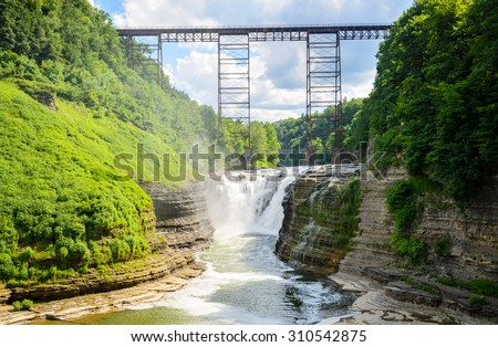 Letchworth State Park - stock photo