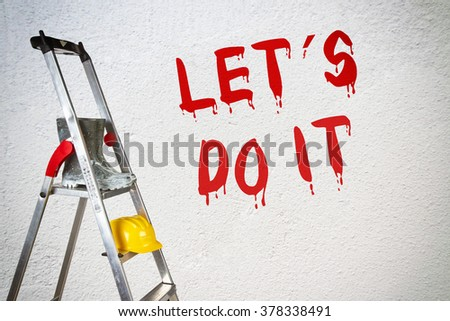 Lets do it - stock photo