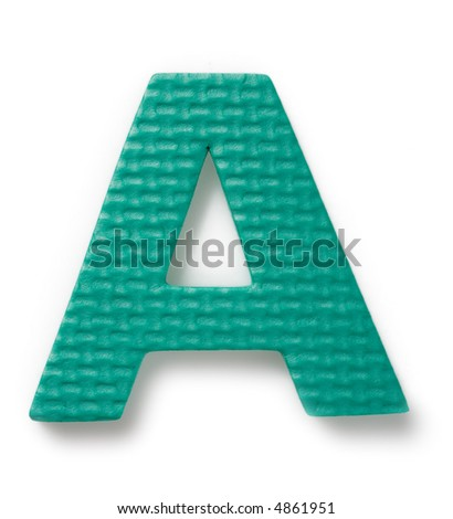 Letter A isolated on the white background - stock photo