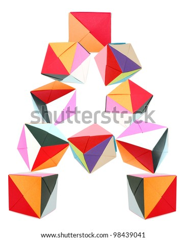 Letter Origami Blocks Stock Photo Royalty Free 98439041 Shutterstock