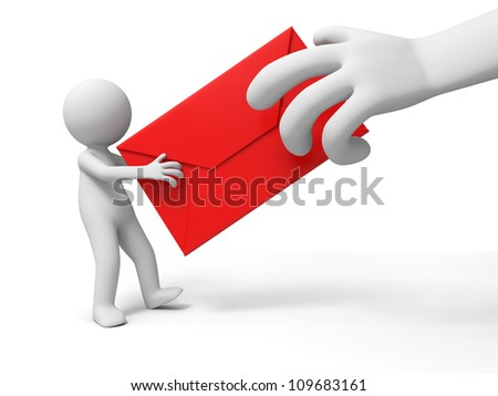 letter/A people is holding a letter - stock photo