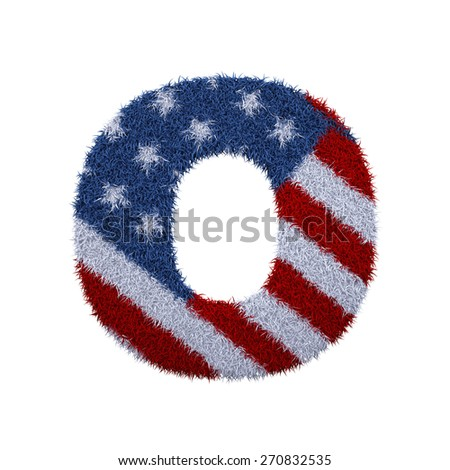 letter a-z with fur and usa flag