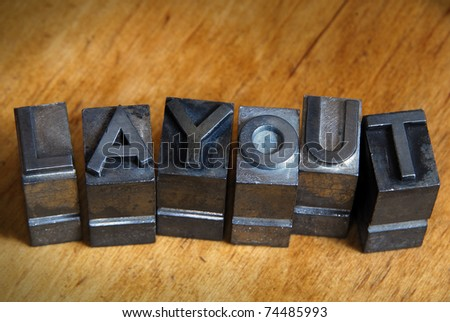 letter and character - stock photo