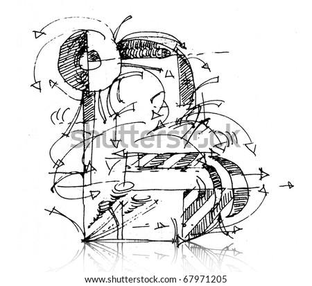 letter b - stock photo