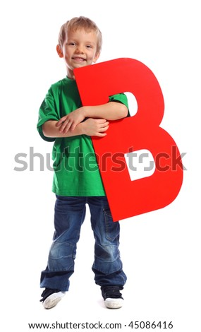 """Letter """"B"""" boy - See all letters in my Portfolio - stock photo"""