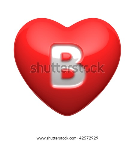 Letter B from alphabet of  B Alphabet In Heart
