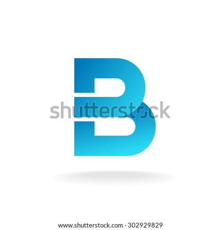 Letter B logo template. Construction building element style. - stock photo