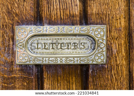 Letter Box - stock photo