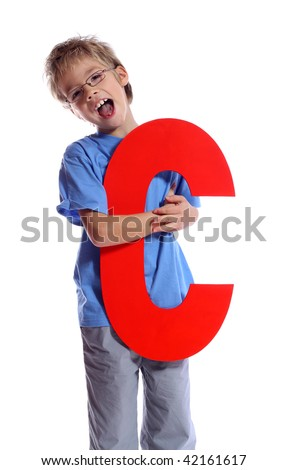 """Letter """"C"""" boy - See all letters in my Portfolio - stock photo"""