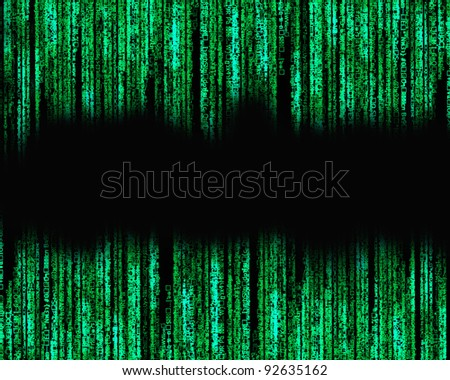 Letter code by the long green. - stock photo