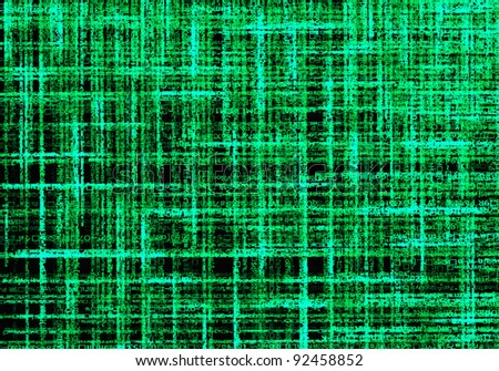 Letter code by the long green connection. - stock photo