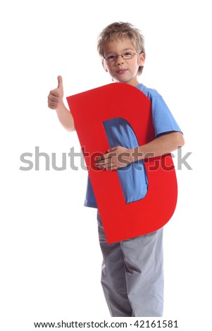 """Letter """"D"""" boy - See all letters in my Portfolio - stock photo"""
