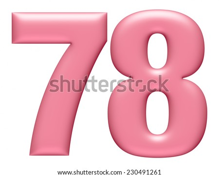 Letter digit 7 & 8 isolated on white background  - stock photo