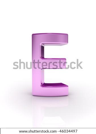 Letter E - stock photo