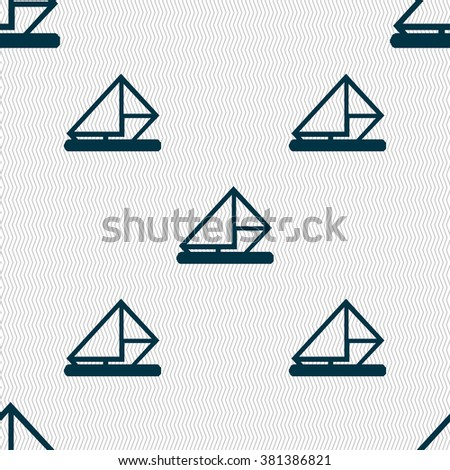letter, envelope, mail icon sign. Seamless pattern with geometric texture. illustration - stock photo