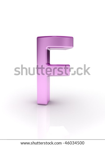 Letter F - stock photo