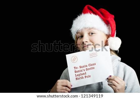 Letter for santa - stock photo