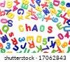 Letter fridge magnets - Chaos - stock photo