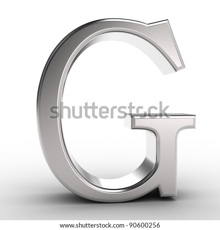 Letter G, isolated on white background.