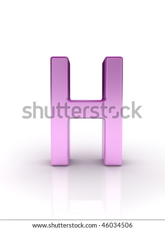 Letter H - stock photo