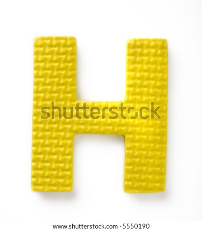 Letter H isolated on the white background - stock photo