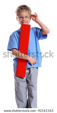 """Letter """"I"""" boy - See all letters in my Portfolio - stock photo"""