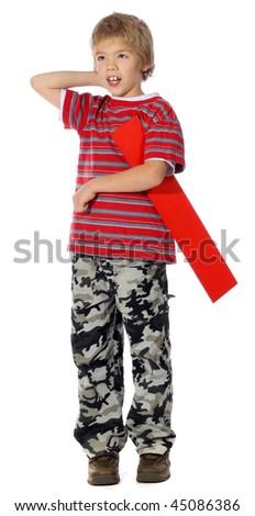 "Letter ""I"" boy - The Alphabet Series - stock photo"