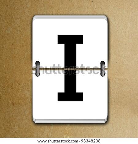 Letter I from mechanical scoreboard alphabet - stock photo