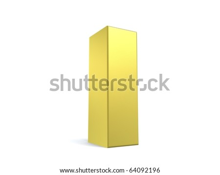 letter I from my golden collection - stock photo