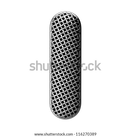 Letter I from round microphone style alphabet. There is a clipping path - stock photo