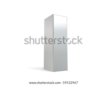 letter I in metal - stock photo