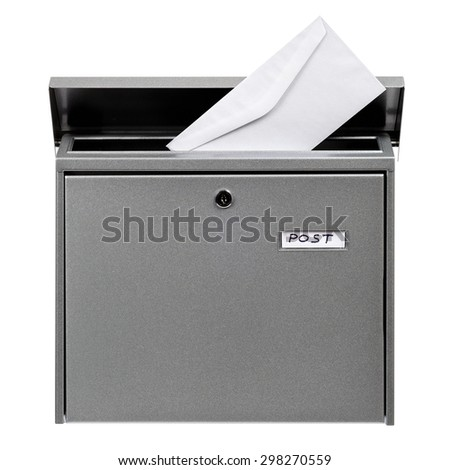 Letter in postbox - stock photo