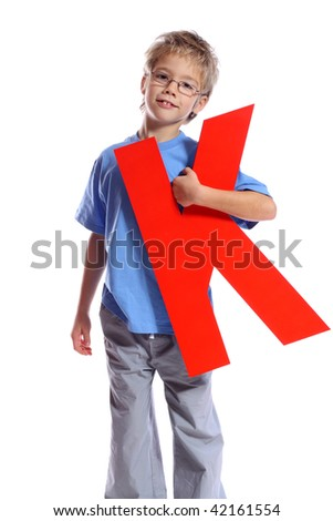 """Letter """"K"""" boy - See all letters in my Portfolio - stock photo"""