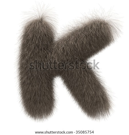 Letter K from fur alphabet