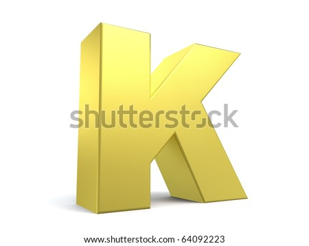 letter K from my golden collection - stock photo