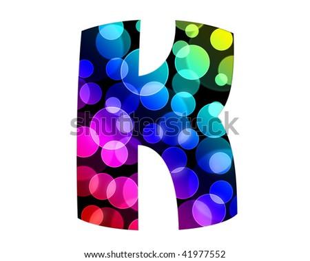 """Letter """"K"""" of Bokeh Alphabet - stock photo"""