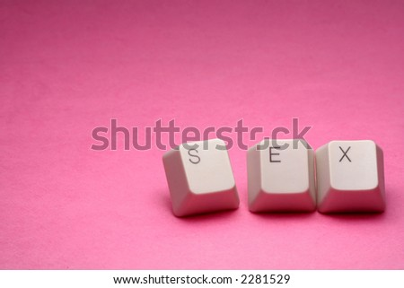 letter keys close up, concept of online porn - stock photo