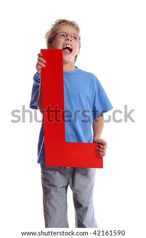 """Letter """"L"""" boy - See all letters in my Portfolio - stock photo"""