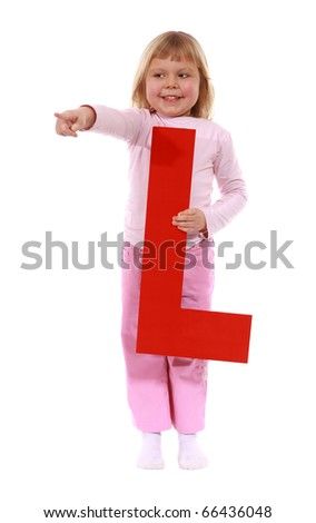 """Letter """"L"""" girl - See all letters in my Portfolio - stock photo"""