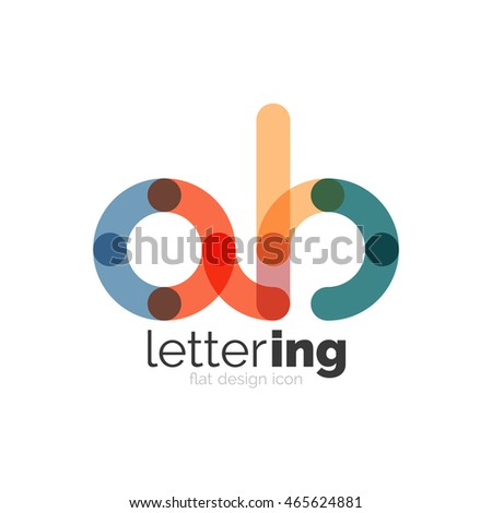 Letter Logo Business Linear Icon On Stock Vector 449230453 ...