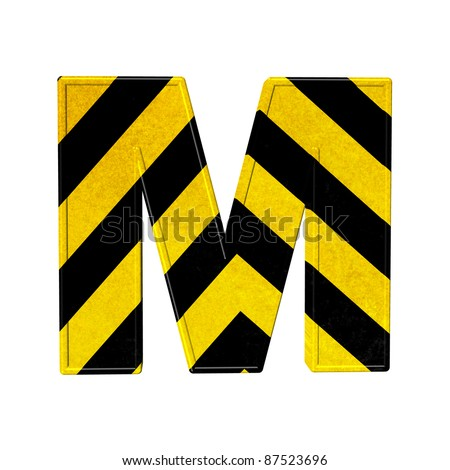 Letter M - stock photo