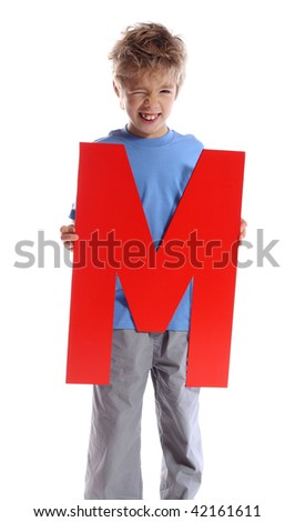 """Letter """"M"""" boy - See all letters in my Portfolio - stock photo"""