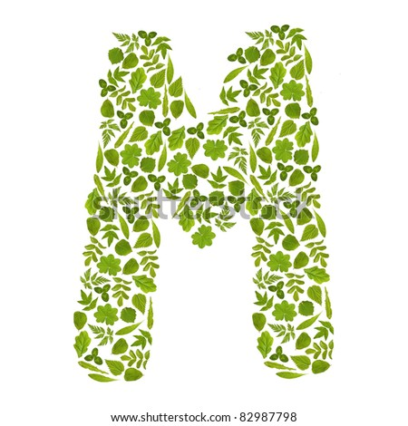 Green Letter m Logo Letter m From Green Leafs